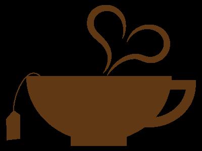 ハート型の湯気の紅茶カップシルエット 無料イラスト素材素材ラボ