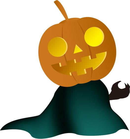 かぼちゃのお化け 無料イラスト素材素材ラボ