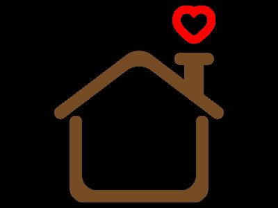 家の形のシンプルフレーム 無料イラスト素材素材ラボ