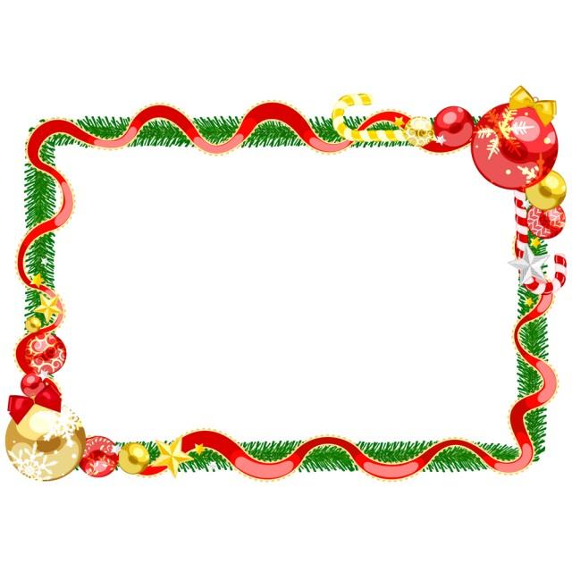 クリスマスフレームcsaipngjpg 無料イラスト素材素材ラボ