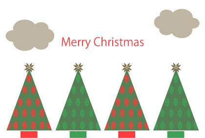ほっこりクリスマスカード 無料イラスト素材素材ラボ