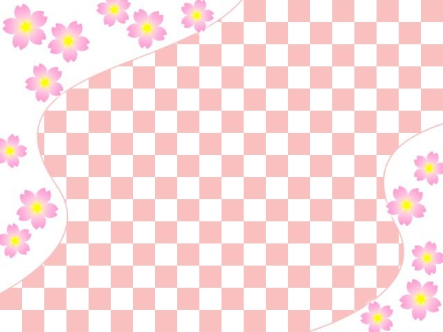 桜の花と市松模様の壁紙和風背景素材画像 無料イラスト素材素材ラボ