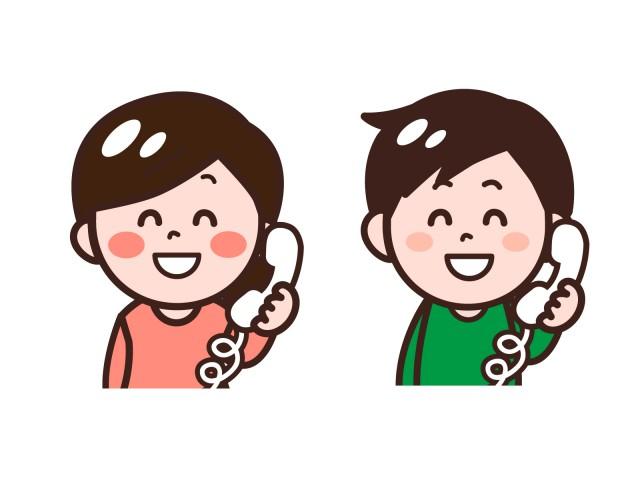 電話対応する男性女性のイラストセット 無料イラスト素材素材ラボ