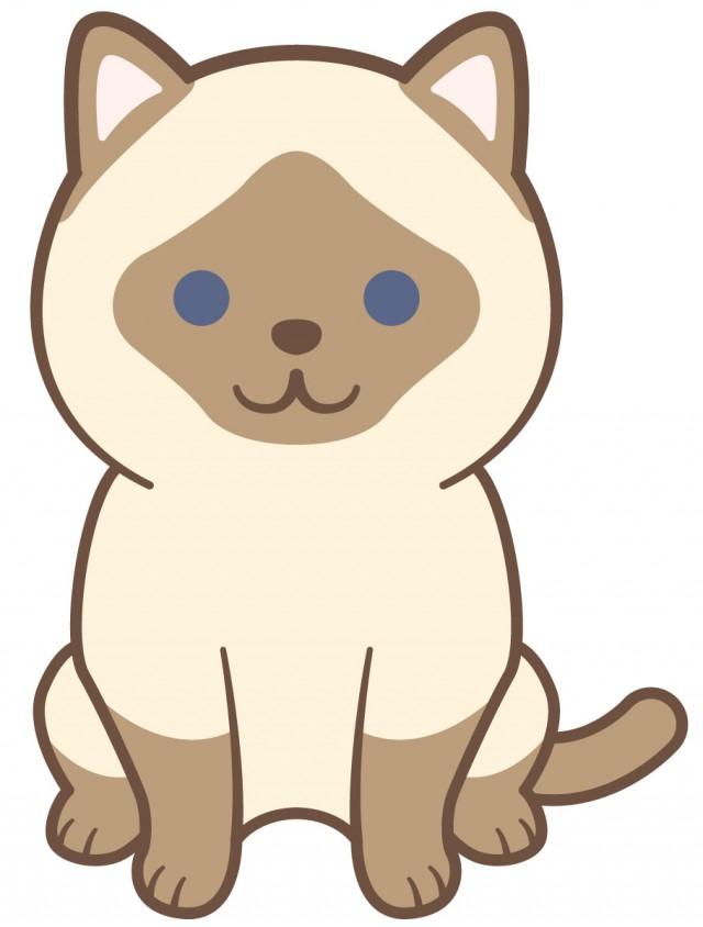 シャム猫 無料イラスト素材素材ラボ