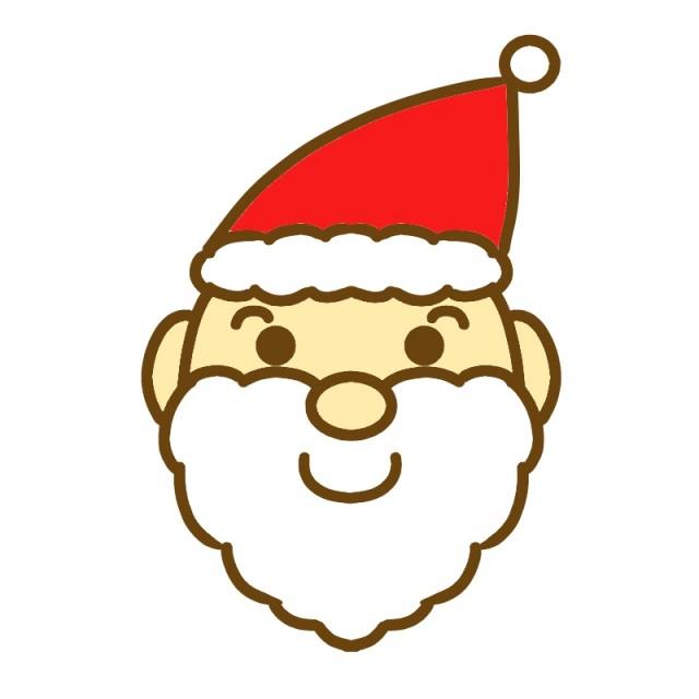 サンタクロースの顔のイラスト 無料イラスト素材素材ラボ