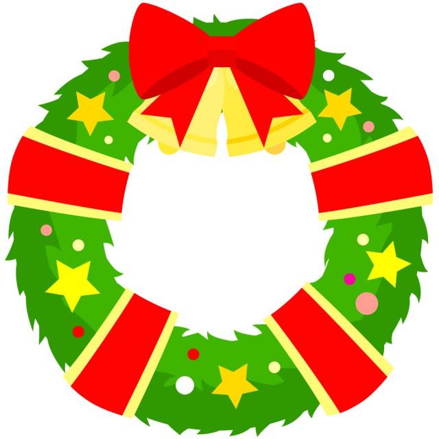 クリスマスリースcsaipngjpg 無料イラスト素材素材ラボ