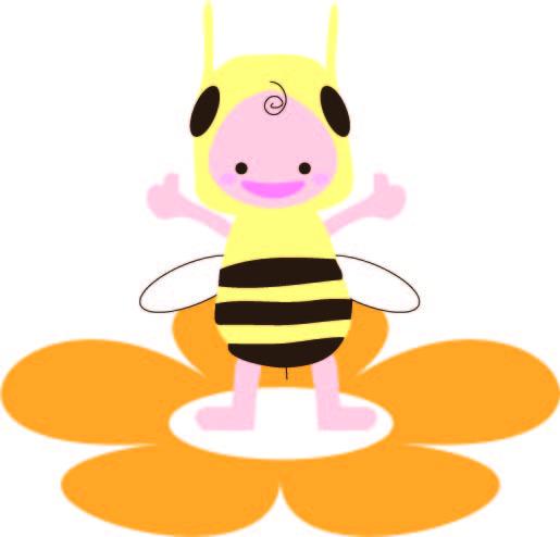 ハチの着ぐるみの子供 無料イラスト素材素材ラボ