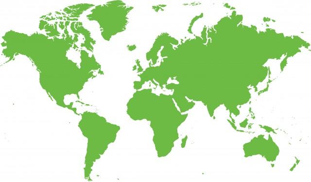 アメリカ基準 世界地図 無料イラスト素材素材ラボ