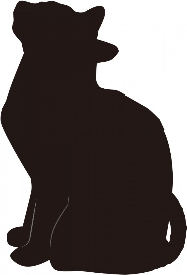 黒猫 シルエット 無料イラスト素材素材ラボ