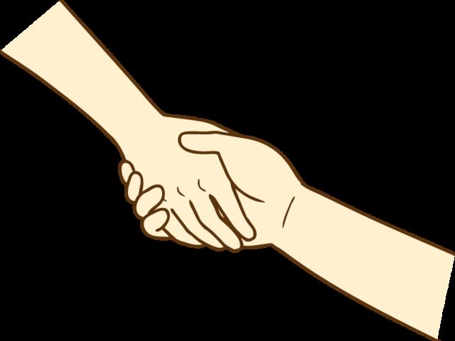 手を握り合う 無料イラスト素材素材ラボ