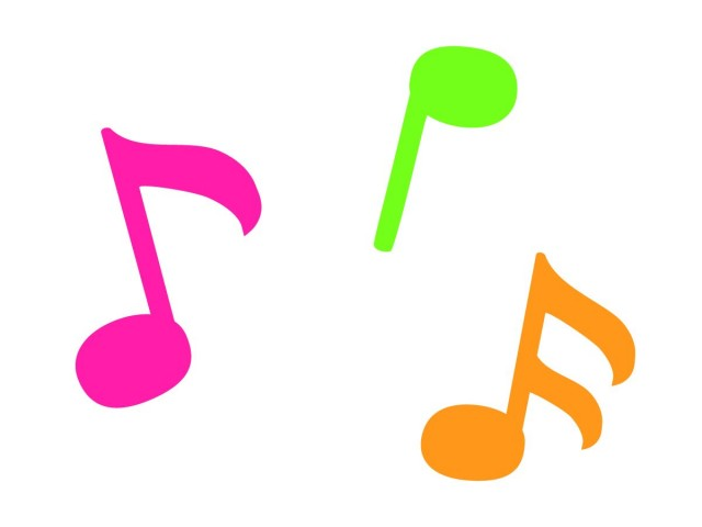 カラフルな音符 無料イラスト素材素材ラボ