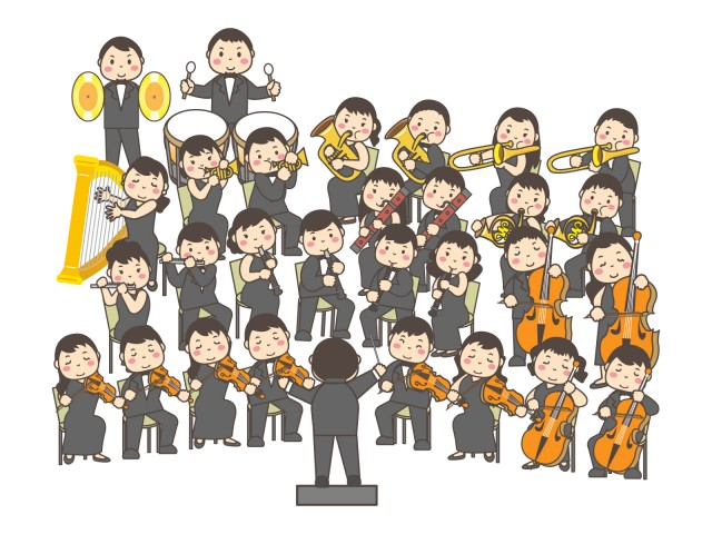 音楽 オーケストラ 無料イラスト素材素材ラボ