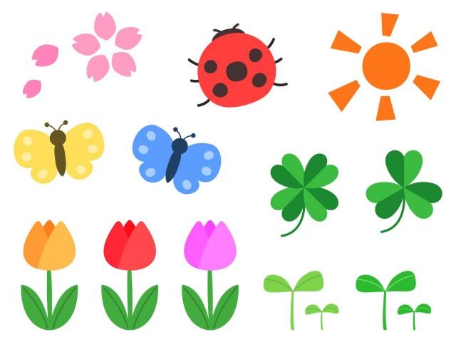春のイラストセット 無料イラスト素材素材ラボ