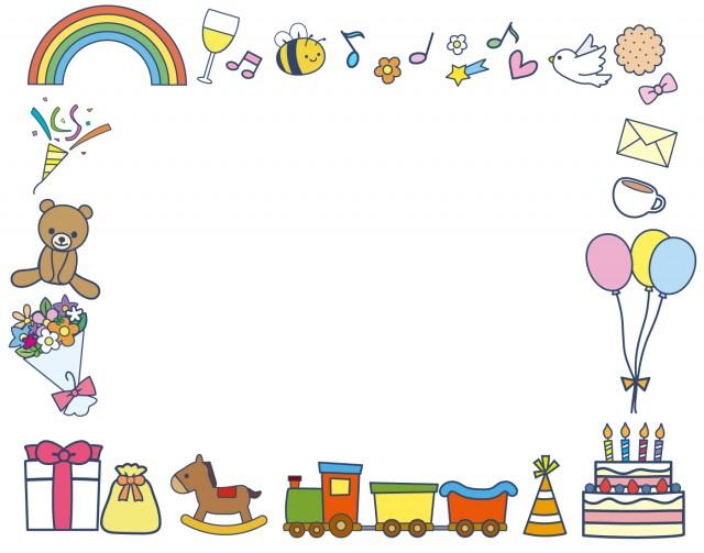 誕生日フレーム1 無料イラスト素材素材ラボ