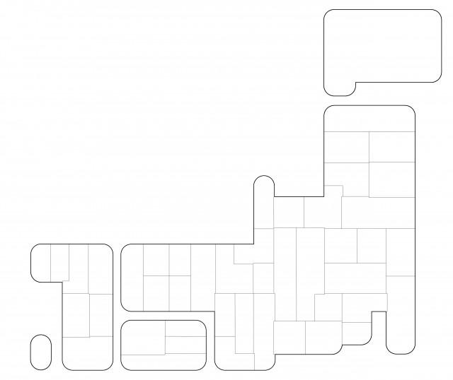 かわいい日本地図 無料イラスト素材素材ラボ