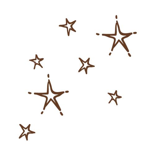 手書き星 無料イラスト素材素材ラボ