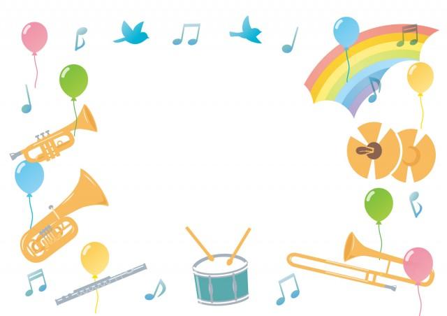 楽しい音楽会フレーム 無料イラスト素材素材ラボ