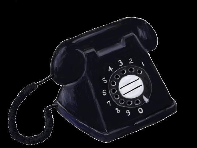 黒電話 | 無料イラスト素材|素材ラボ