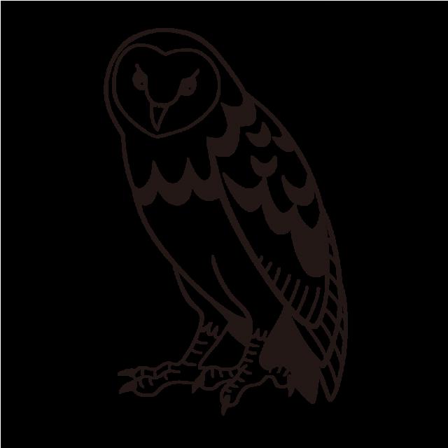 フクロウのイラストメンフクロウ 無料イラスト素材素材ラボ