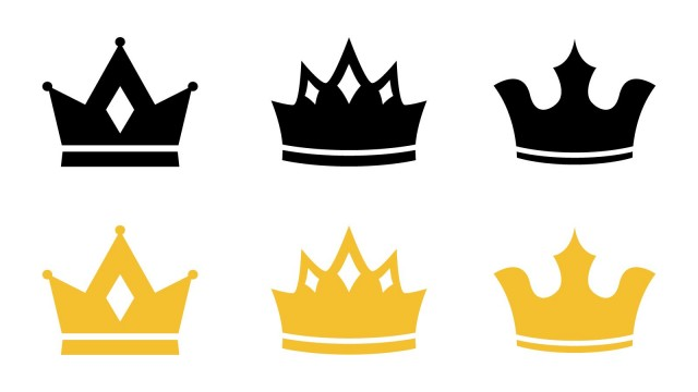 王冠のアイコンセット 無料イラスト素材 素材ラボ