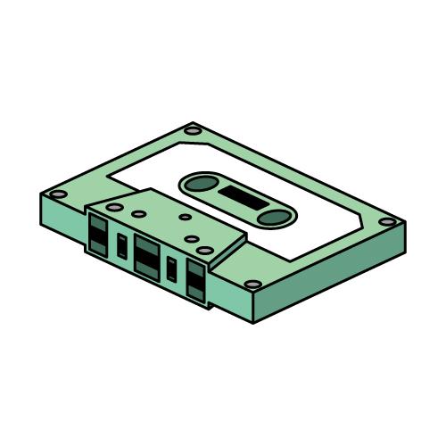 カセットテープ 無料イラスト素材素材ラボ