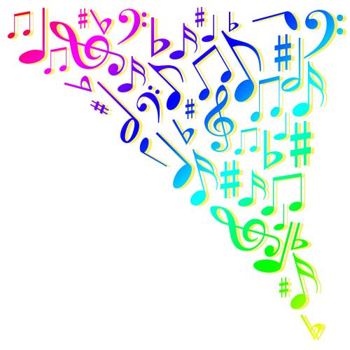 音楽 沢山の可愛い音符 無料イラスト素材素材ラボ