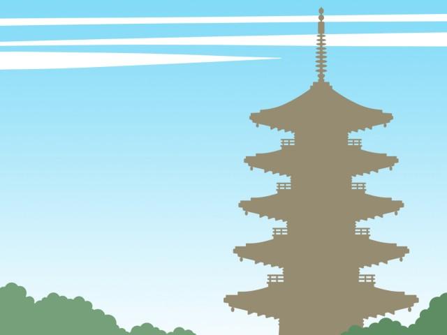 五重塔壁紙シンプル背景素材イラスト 無料イラスト素材素材ラボ