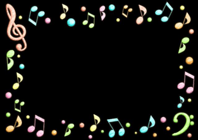 音符の手書き風フレーム 無料イラスト素材素材ラボ