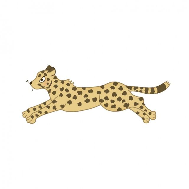 サバンナの動物のイラストチーター 無料イラスト素材素材ラボ