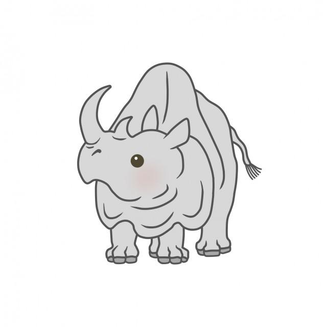 サバンナの動物のイラストサイ 無料イラスト素材素材ラボ