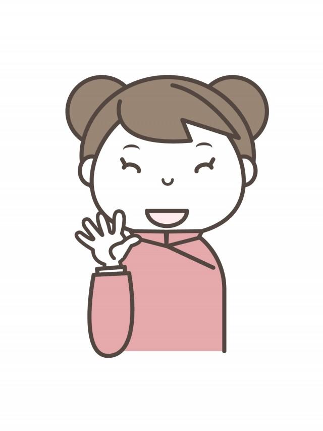 女の子 笑顔で手を振る中華風 無料イラスト素材素材ラボ