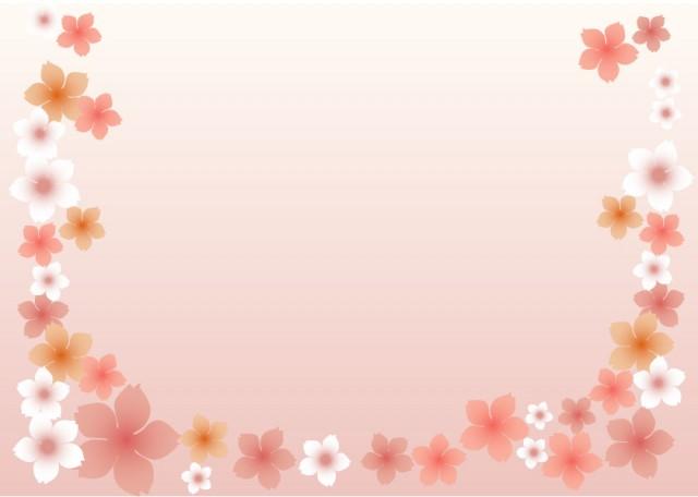 和風桜の壁紙01 無料イラスト素材素材ラボ