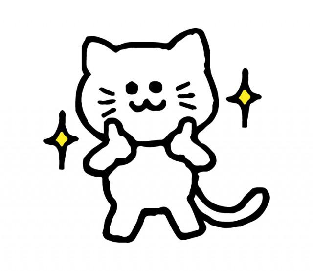 いいねする猫のイラスト 無料イラスト素材素材ラボ