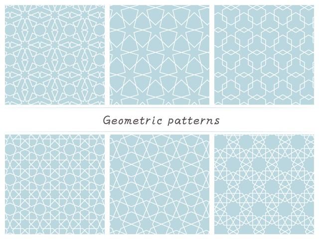 アラベスクパターンセット   無料イラスト素材 素材ラボ