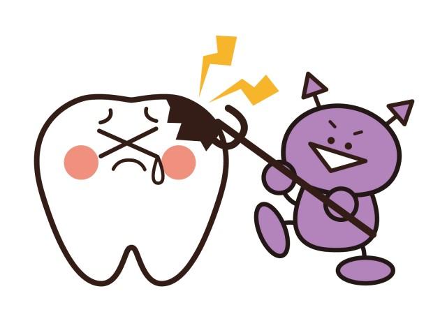 虫歯のイラスト 無料イラスト素材素材ラボ