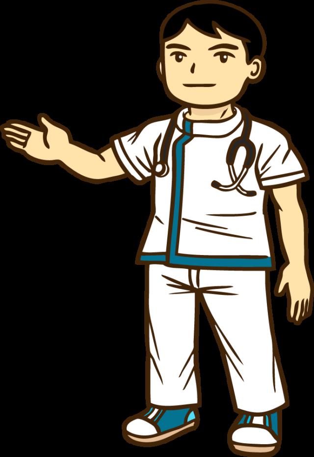 無料イラスト素材:医療スタッフ