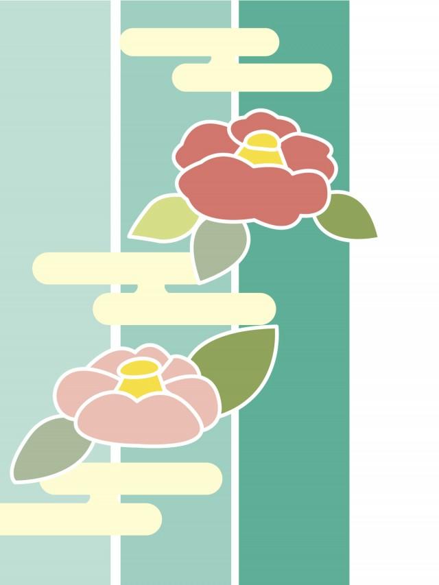 椿の花背景 無料イラスト素材素材ラボ