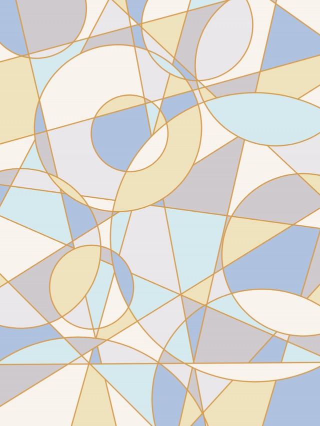 幾何学模様の背景素材02/青a | 無料イラスト素材|素材ラボ