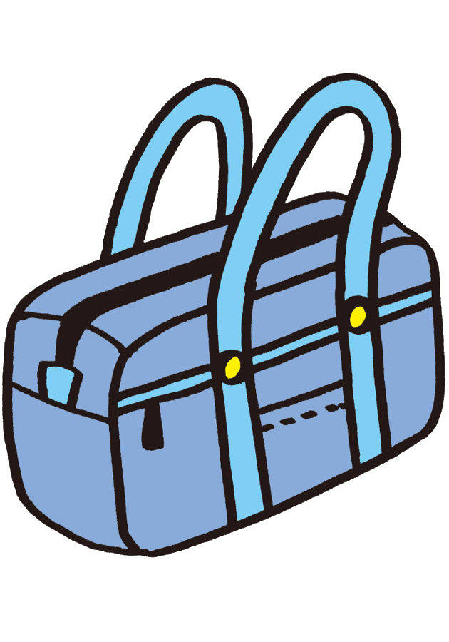 学生カバン鞄高校生中学生学校 無料イラスト素材素材ラボ