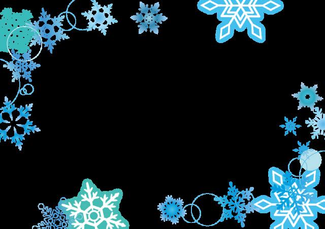 雪の結晶フレーム3 無料イラスト素材素材ラボ
