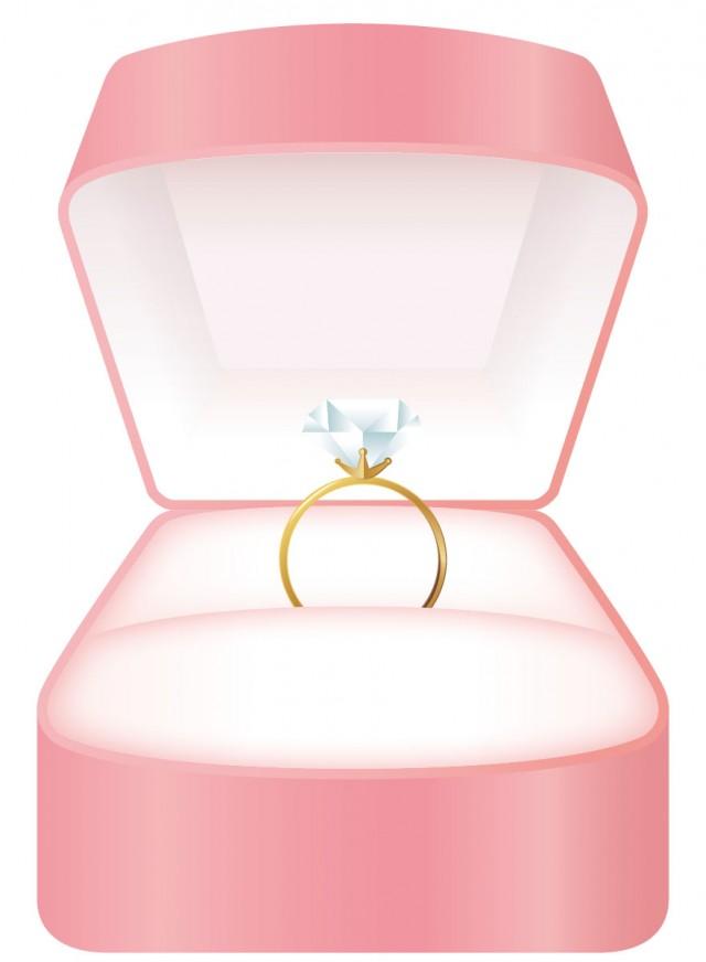 リングケースに入ったダイヤの指輪 無料イラスト素材素材ラボ