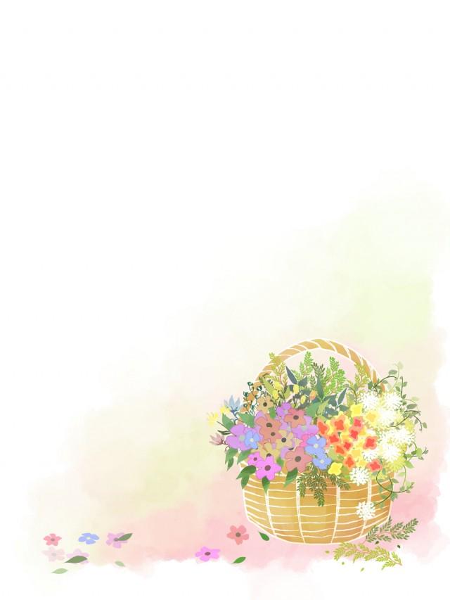花かご縦 無料イラスト素材素材ラボ