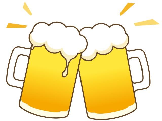 ビールで乾杯 無料イラスト素材 素材ラボ