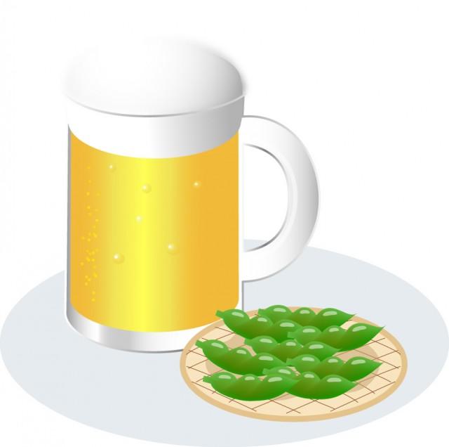 ビールと枝豆 | 無料イラスト素材|素材ラボ