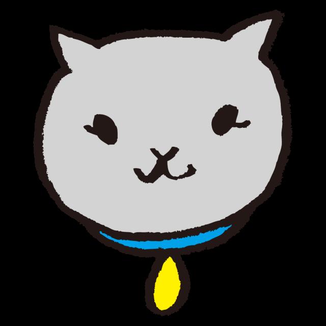 かわいい猫 顔 グレー 無料イラスト素材 素材ラボ
