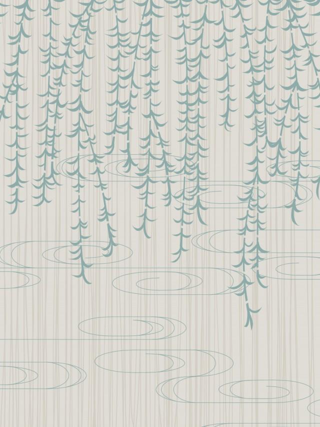 柳文様の背景素材02グレーb 無料イラスト素材素材ラボ