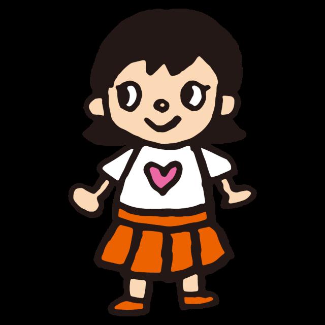 かわいい女の子小学生子供 無料イラスト素材素材ラボ