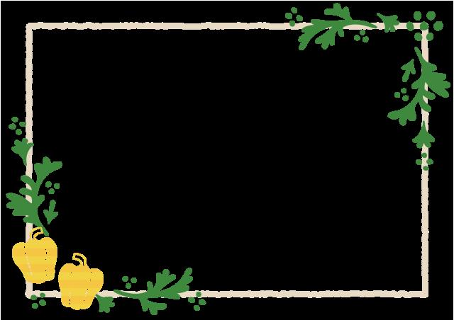 黄色いパプリカのフレーム 無料イラスト素材 素材ラボ