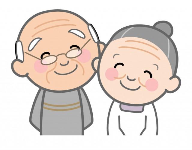 笑顔の老夫婦 無料イラスト素材 素材ラボ