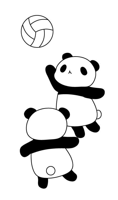 パンダのバレーボール